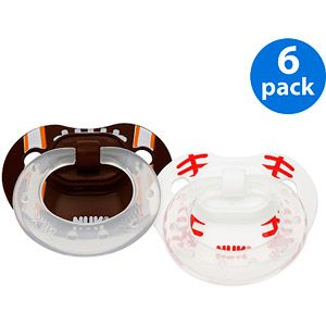 NUK/ Gerber - Orthodontic Pacifiers Sports, 6-pack (sz 1 and 2)