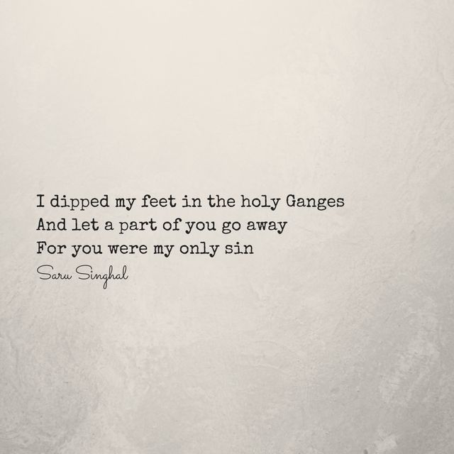 Finally, let it go.  www.sarusinghal.com  #quote #word #micropoetry
