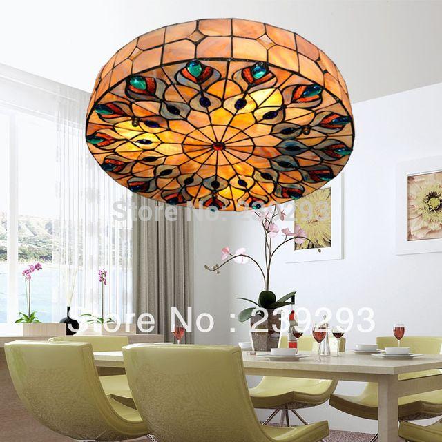 Pfau Design Freies Verschiffen 110-240 V Indoor Tiffany Deckenleuchte Armaturen…