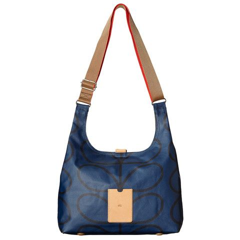 This stunning Orla Kiely bag comes from the SS15 Resort collection, and is part of the Orla Kiely Etc range of handbags.  A sophisticated bag with plenty of style!  Orla Kiely Bags | Giant Linear Stem Blue Midi Sling Bag - By Cadeaux - Cadeaux.ie