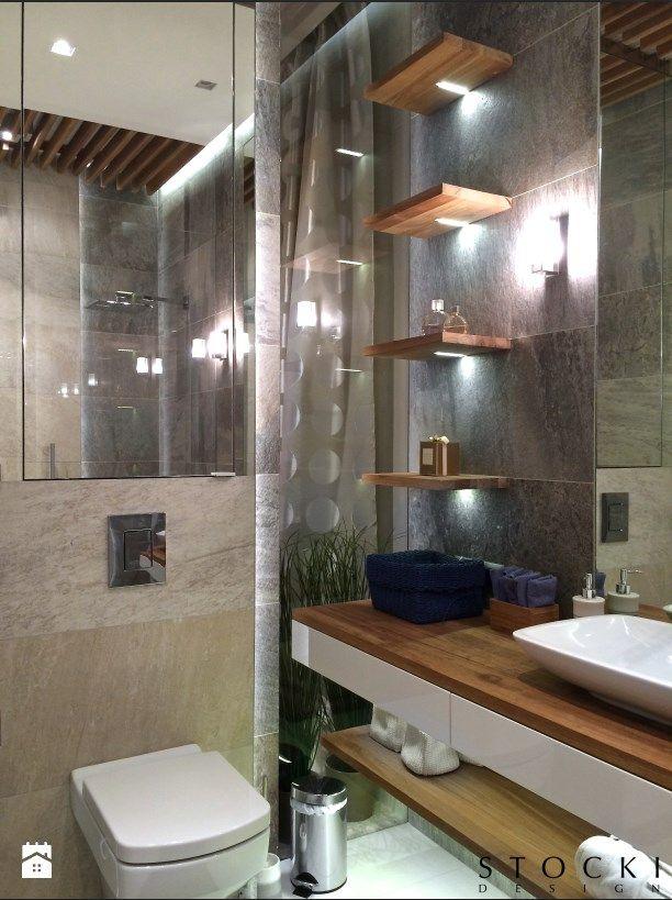 Penthouse Wilanów - łazienka przy głównej sypialni - zdjęcie od Stocki Design - Łazienka - Styl Nowoczesny - Stocki Design