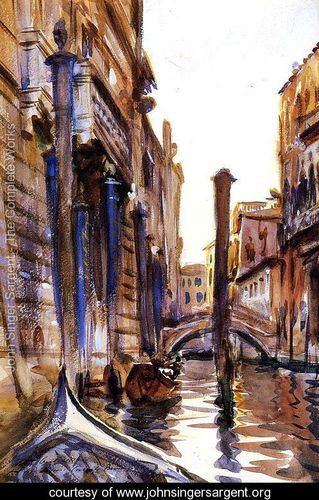 Side Canal in Venice - John Singer Sargent - www.johnsingersargent.org