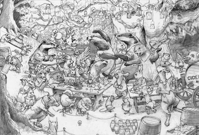 Chris Dunn-Sketch for Woodland Party