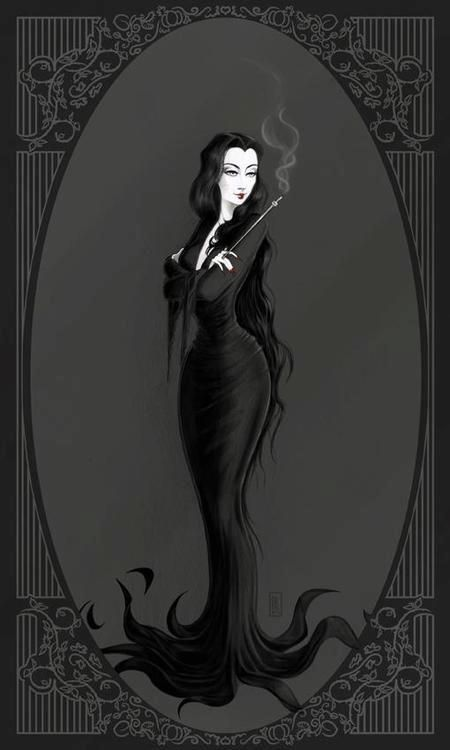 Gothic picture. Loves me some Morticia.