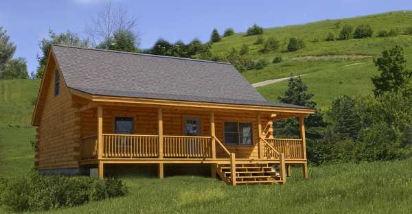 Woodland Shell Log Cabin Costs only $37,000 ... Looks Great Inside ... Check out the Floor Plans!