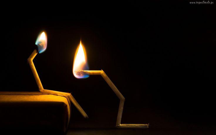 Zapałki, Ogień, Postacie