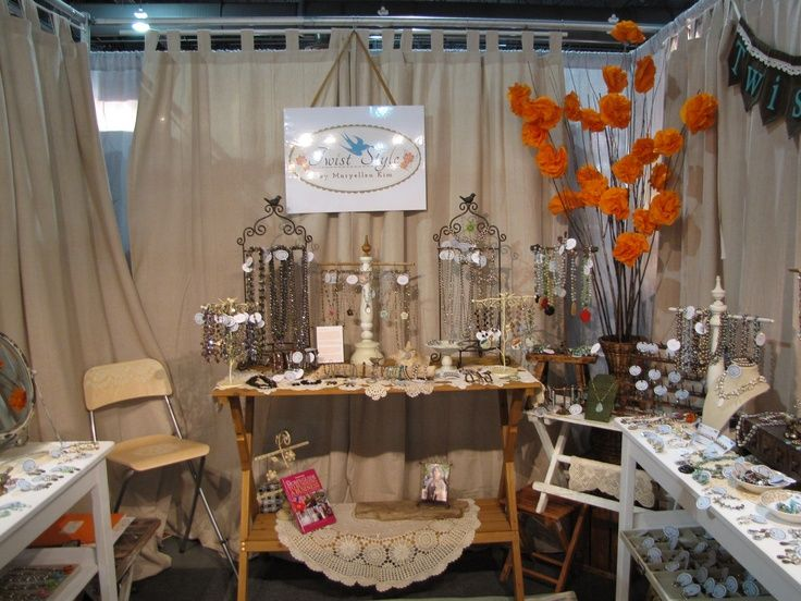 Pinterest craft fair booth ideas trade show booth from for Jewelry display trade show