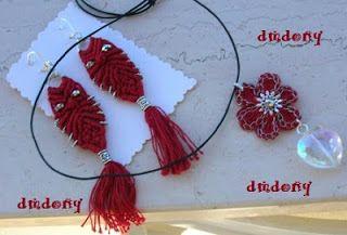 LE CREAZIONI DI DONY: orecchini gufetti macrame e ciondolo fiorellino