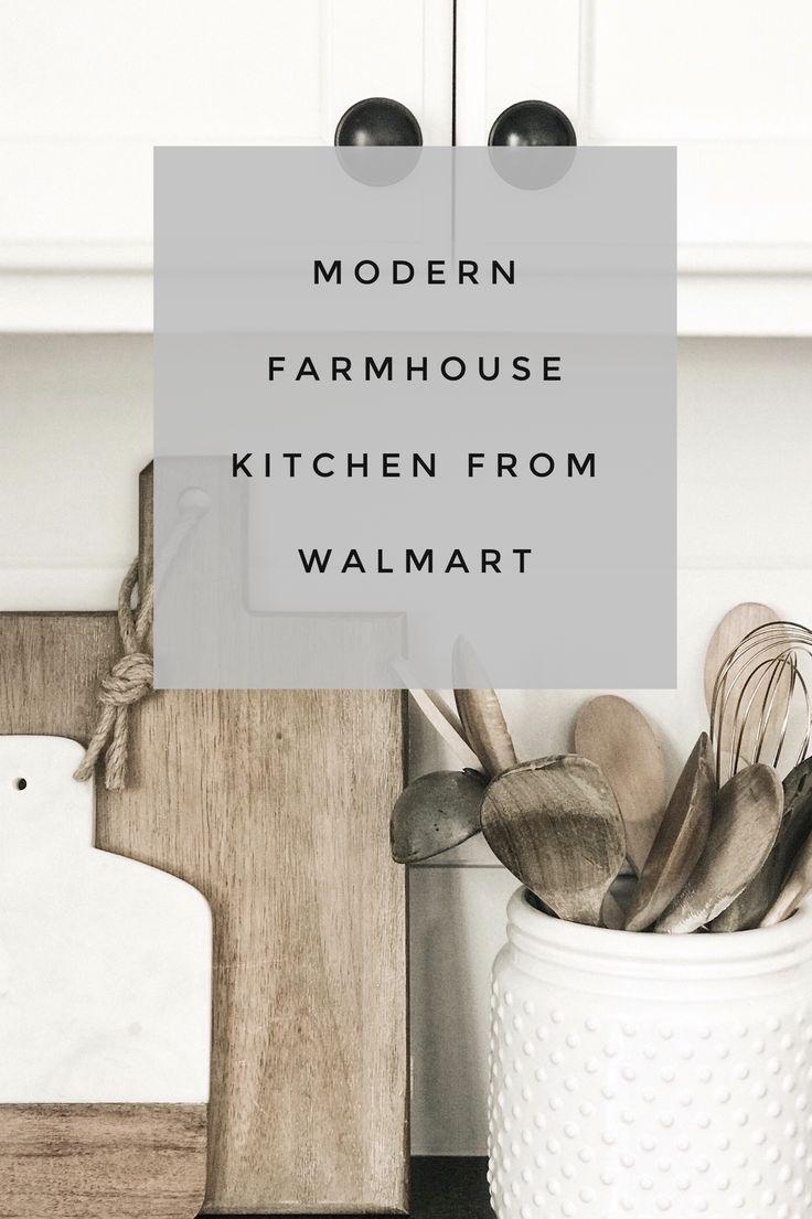 Modern Farmhouse Kitchen From Walmart In 2020 Affordable Kitchen Decor Modern Farmhouse Kitchens Modern Farmhouse Style