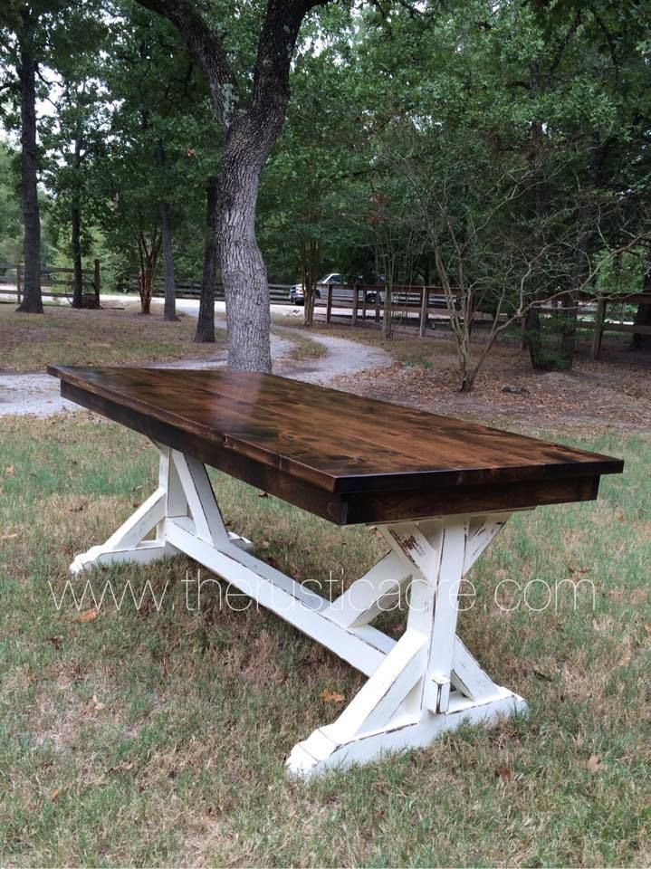 Knotty Alder Farm Table A Homemade For The Large Dining Room Maybe With Long Bench On One Side And Some Mix Match Chairs