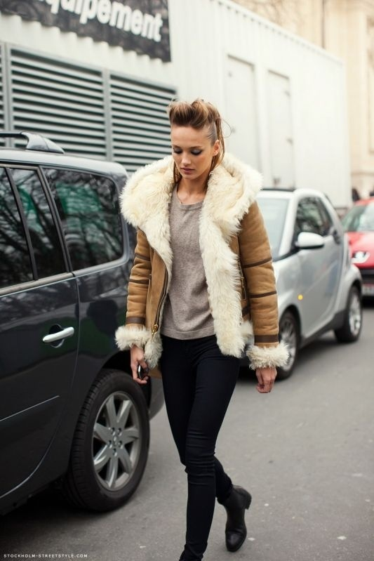 Top 40 ideas about Sheepskin women on Pinterest | Coats, Soft ...