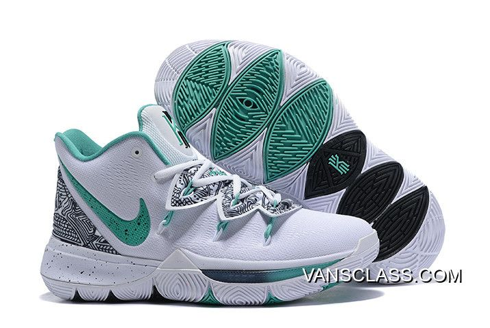"""1aff7aca1e5 Nike Kyrie 5 """"Unveiled"""" PE White Green-Black Buy Now in 2019"""