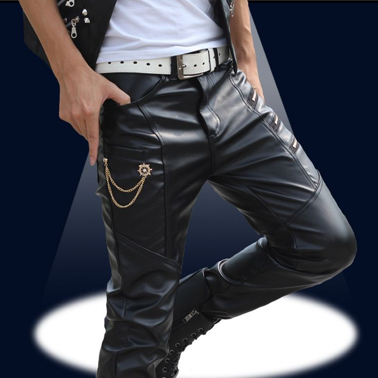 nieuwe mode lente europese merk casual hip hop harem broek slanke zwarte faux lederen klinknagels rits heren skinny broek in nieuwe mode lente europese merk casual hip hop harem broek slanke zwarte faux lederen klinknagels rits heren skinny broe van Active Pants op AliExpress.com   Alibaba Groep