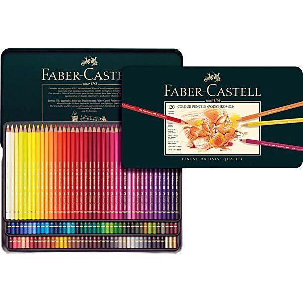 Faber-Castell Färgpennor Polychromos 120-set hos Pen Store - Billiga, snabba och vassast på pennor - frakt till hela Sverige!