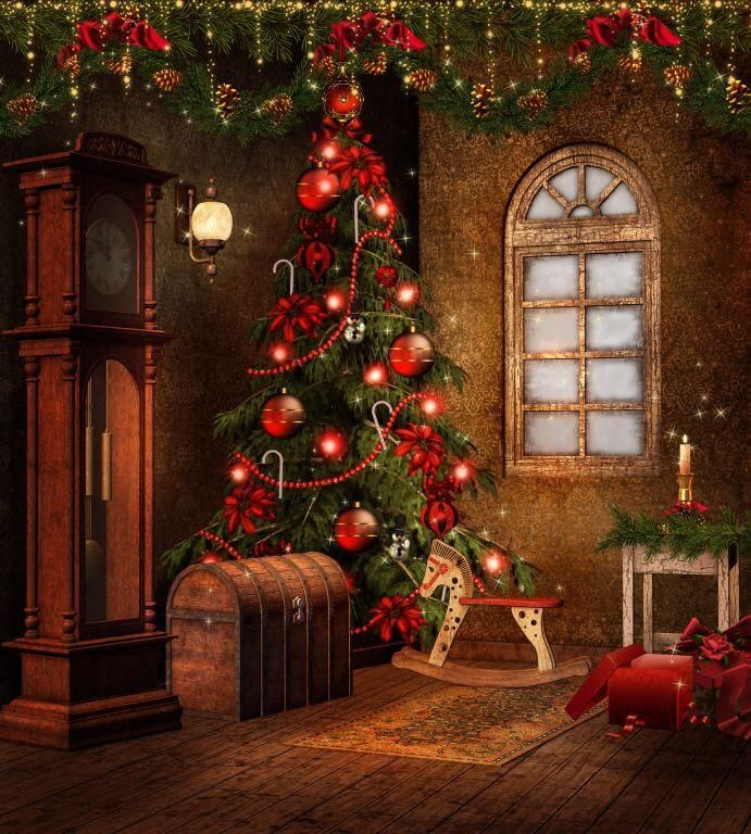 Christmas Tree House Photo Background Studio Photography Backdrop Props Victorian Christmas Tree Victorian Christmas Christmas Settings
