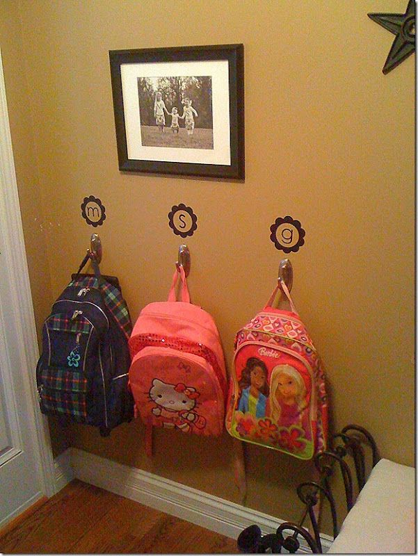 For when you get home you can hang your stuff up and be Ideas for hanging backpacks