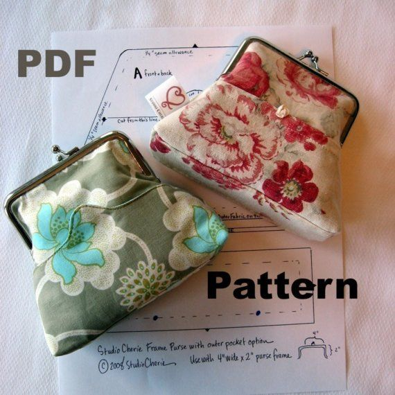 Coin Purse Pattern and Instructions PDF format by StudioCherie, $6.00