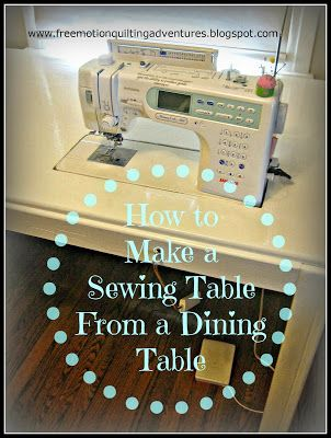 Amy's Free Motion Quilting Adventures: How to Make a Sewing Machine Table…