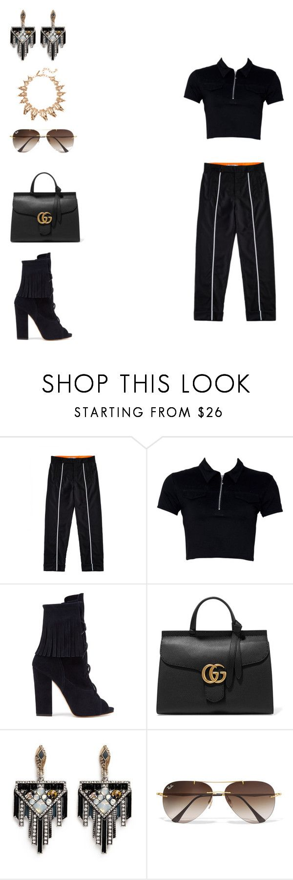 """""""The Elegancia deportiva Collection"""" by cancankennedy on Polyvore featuring Ksenia Schnaider, Gucci, Lulu Frost, Ray-Ban and Oscar de la Renta"""