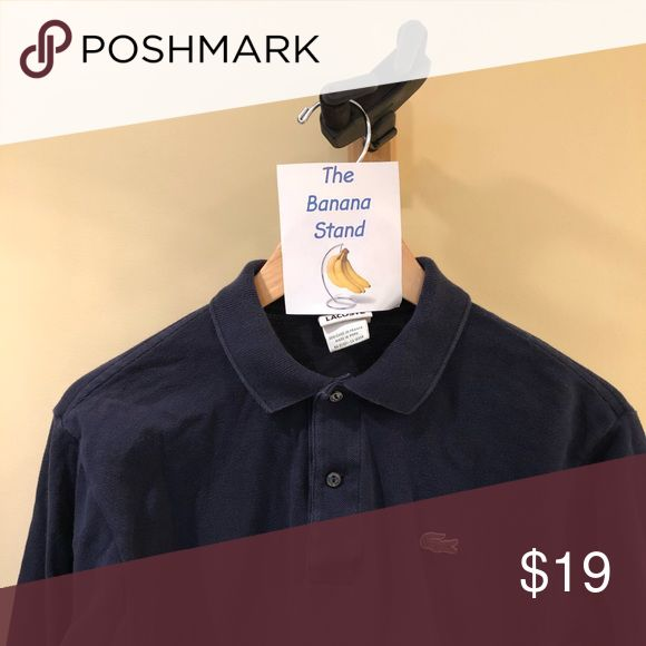 Lacoste Long Sleeve Button Up Shirt. Lactose long sleeve shirt available for sale. Color (Dark Blue). Heavily warn and has shrunk a full size. Still a great shirt for a great price. Size - Small Lacoste Shirts Casual Button Down Shirts
