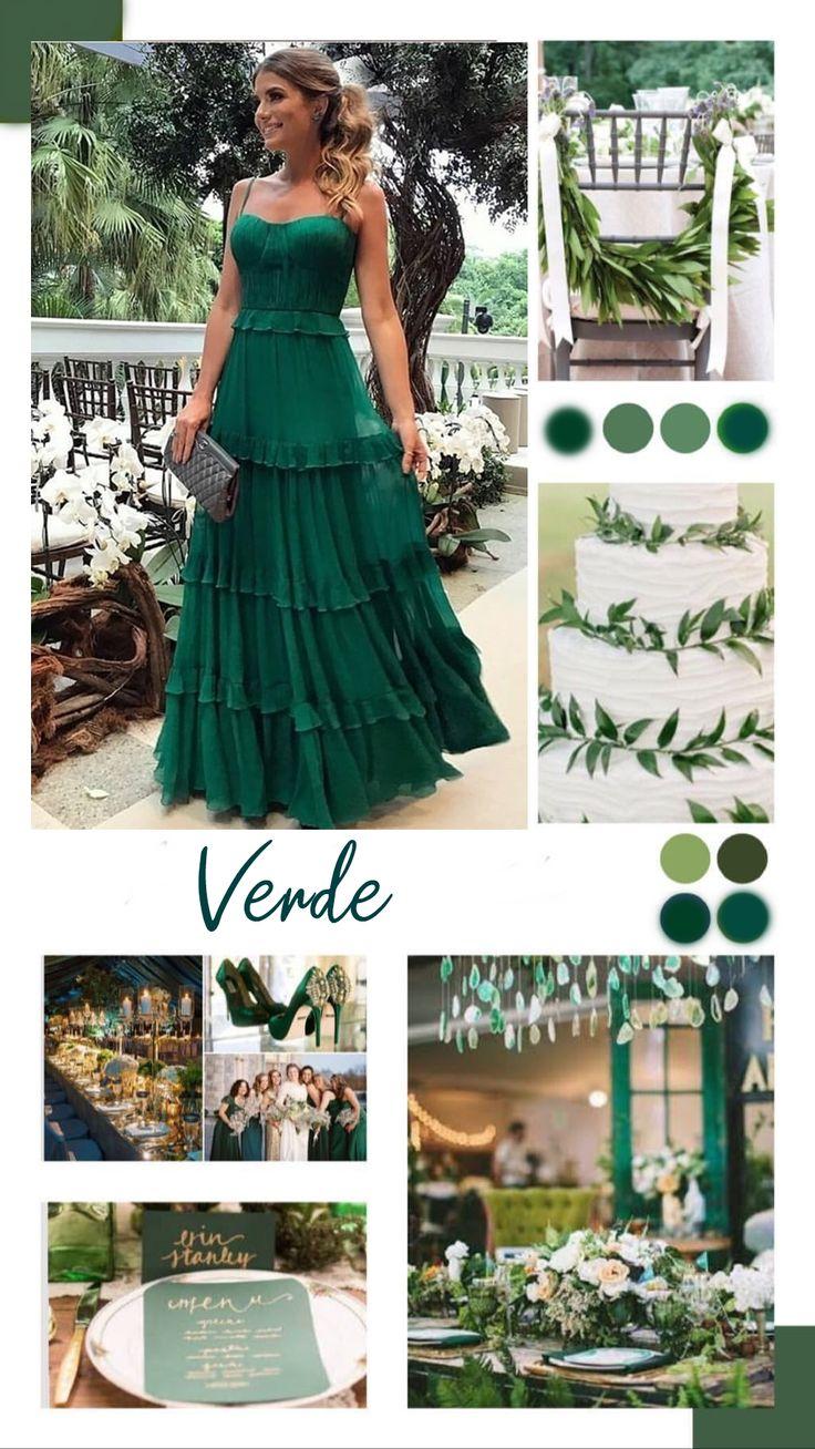 Vestido verde dama de honra: 20 longos para casamentos na igreja   – Vestido festa casamento