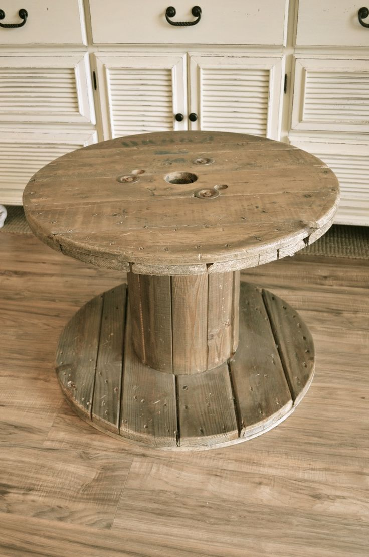 Greyish Distressed End Table/ small coffee table