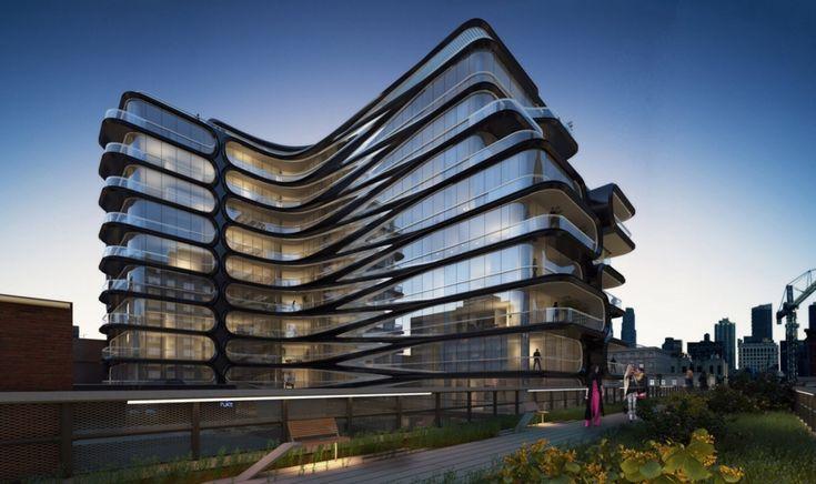 Космическая архитектура Захи Хадид Жилой дом в Манхеттене, США