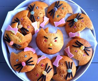 Feest - verjaardag -Kindertraktaties: Katten eierkoeken