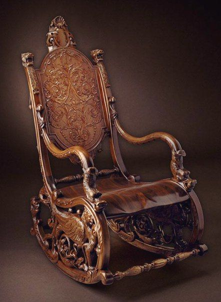 This had what appeared to be a Russian comment. I'm just pinning it because this chair is a work of art, and a labor of love.