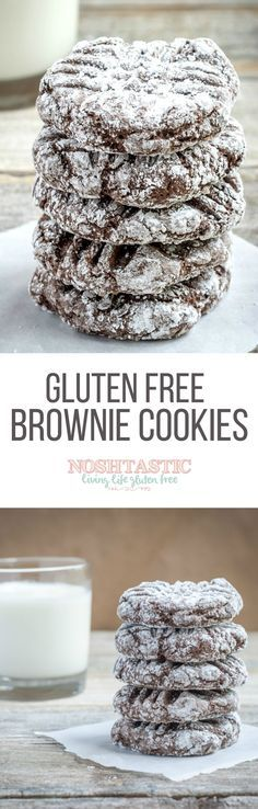 A delicious easy recipe for Gluten Free Brownie Cookies, you'll love them! Follow my personal GFDF Board: @hannah_hansen2 https://www.pinterest.com/hannah_hansen2/gfdf/