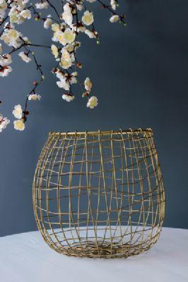 Brass Wire Storage Basket