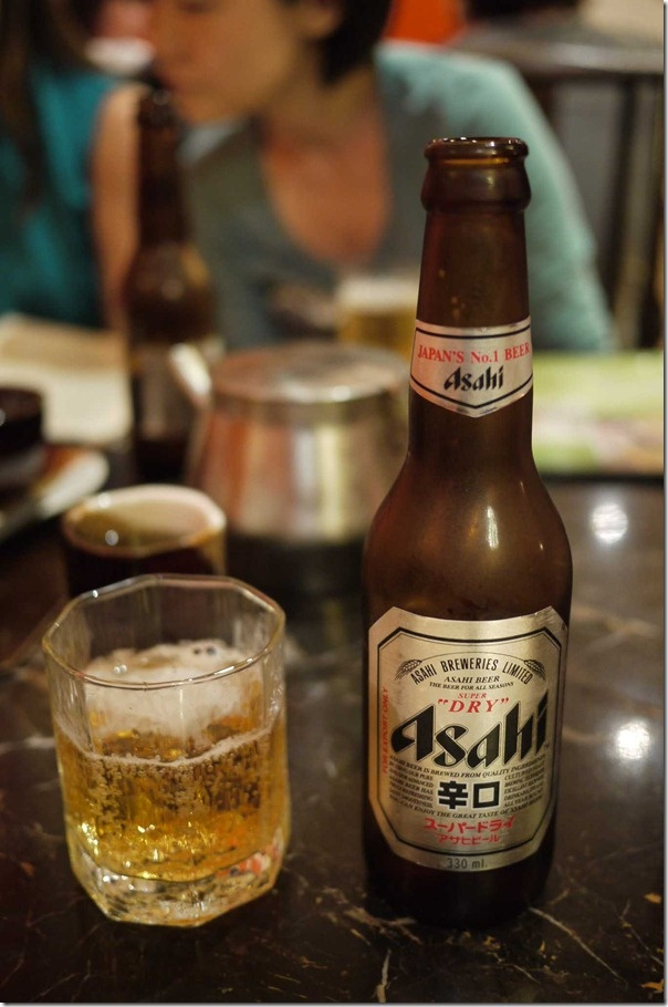 Japanese Asahi beer. For me, this is the best beer in Japan. ❤️❤️❤️