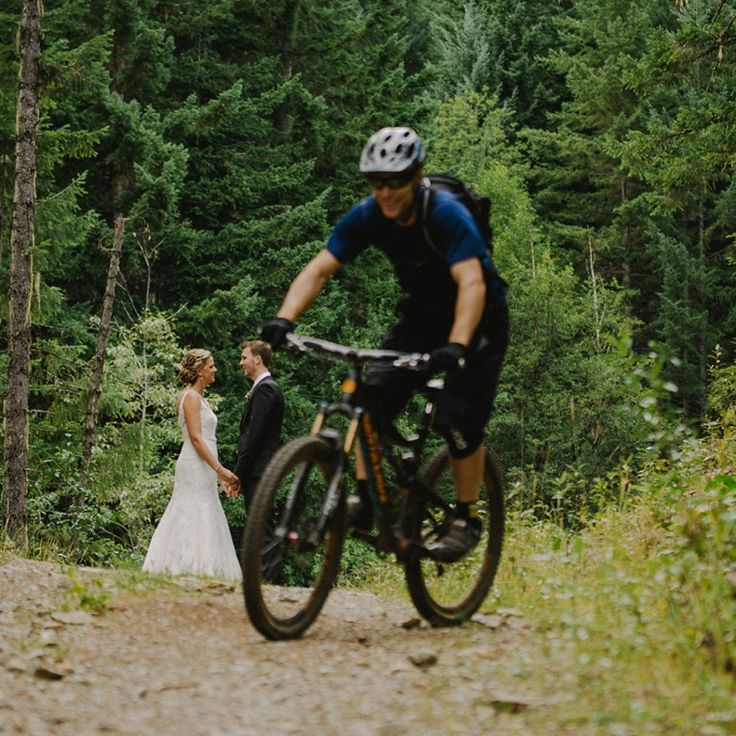 mountain bike wedding in whistler