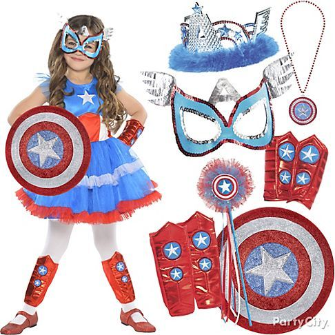 Be heroic! Let your super-girl pick from mix & match accessories from our new superhero costumes for girls collection ... and let her fashion superpowers shine. Mask, or tiara? Decisions, decisions ... #BeACharacter