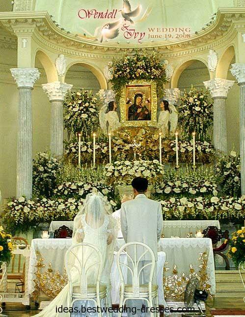 Wedding Church Altar Decoration