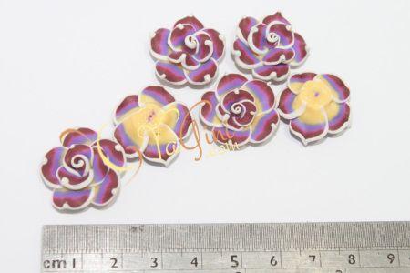 Aplikasi Clay Bunga Kecil 2cm - Ungu Marun - yagini.com - 085641416429 - 3