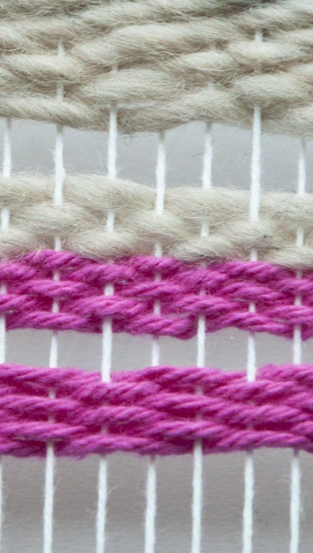 I often talk about how I use a worsted or DK weight yarn to weave with so that I can push the rows down tight and mostly cover my warp, but recently I tried the weft facing weave and this really wo…