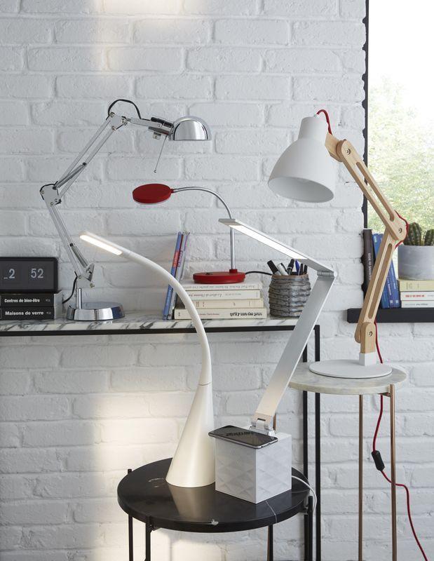 lampe de bureau colours tutti chrome luminaires lampe. Black Bedroom Furniture Sets. Home Design Ideas