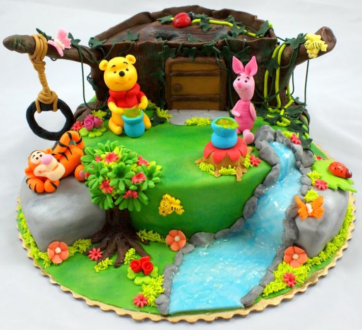 171 best Winnie the Pooh cake images on Pinterest Petit fours