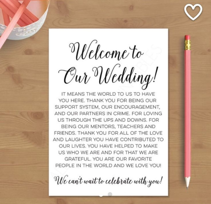 17 Ideas About Wedding Welcome Letters On Pinterest
