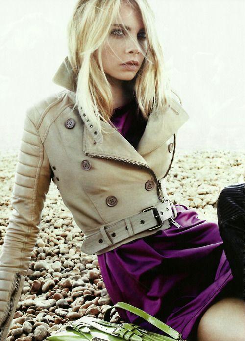 Cara Delvigne for Burberry.