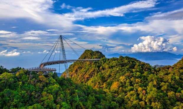 The Langkawi Skybridge in Malaysia is a 125m-long curved footbridge 700m above sea level, offering visitors spectacular views. It can only be reached by cable car, meaning this is definitely one for those with a head for heights.