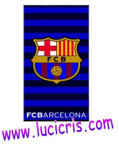 Toalla FC BARCELONA Rayas Azul 100X180cm