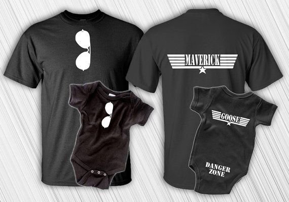 Father Son Matching Shirt Set - Maverick And Goose - New Baby - Matching Shirts - Daddy and Me - Bodysuit - First Father's Day - Top Gun