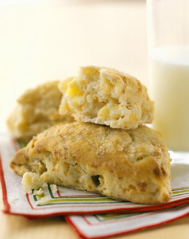 Apfel-Scones selber machen | Zeit: 30 Min. | http://eatsmarter.de/rezepte/apfel-scones