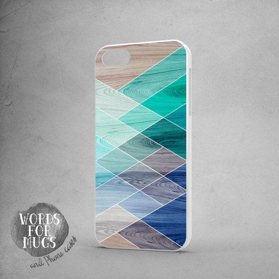 Samsung Galaxy S5 case geometric wood print Galaxy by DeWadaSTORE