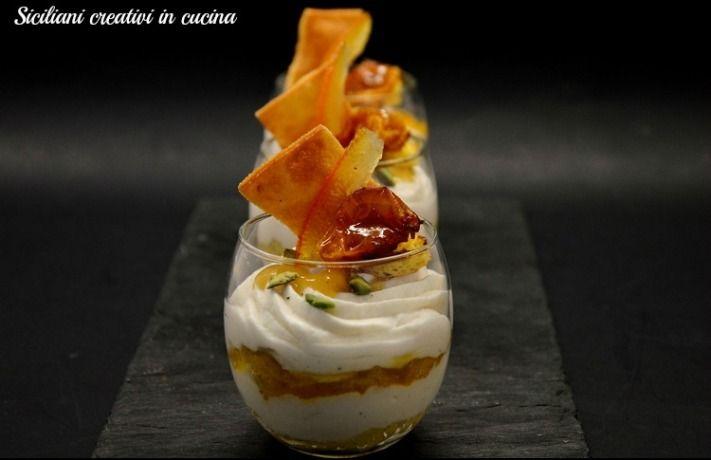 Chantilly di mozzarella, sciroppo e confit di pomodoro Corbarino, chips di pasta | SICILIANI CREATIVI IN CUCINA |