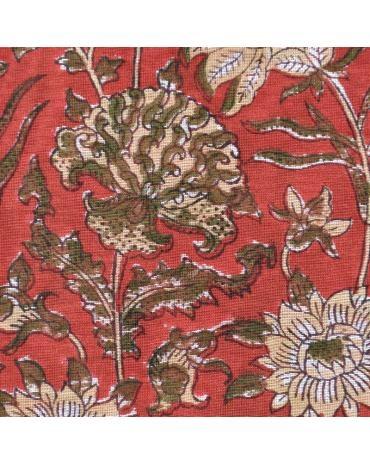 Flower Jungle Block Print