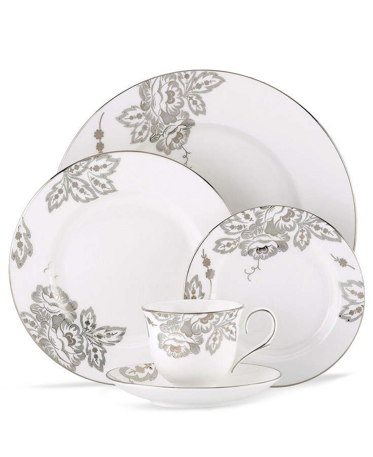 L By Lenox Dinnerware, Floral Waltz Collection
