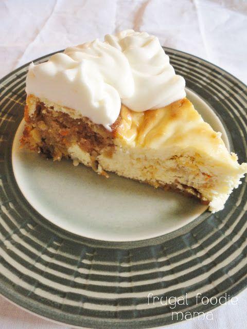 Carrot Cake Swirled Cheesecake